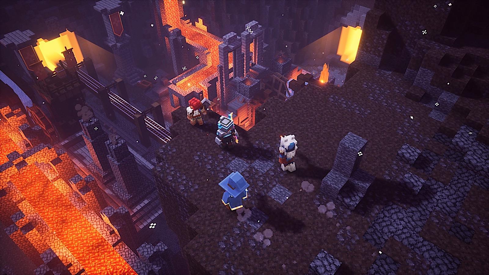 Minecraft Dungeons Screenshot Dungeon Team Members