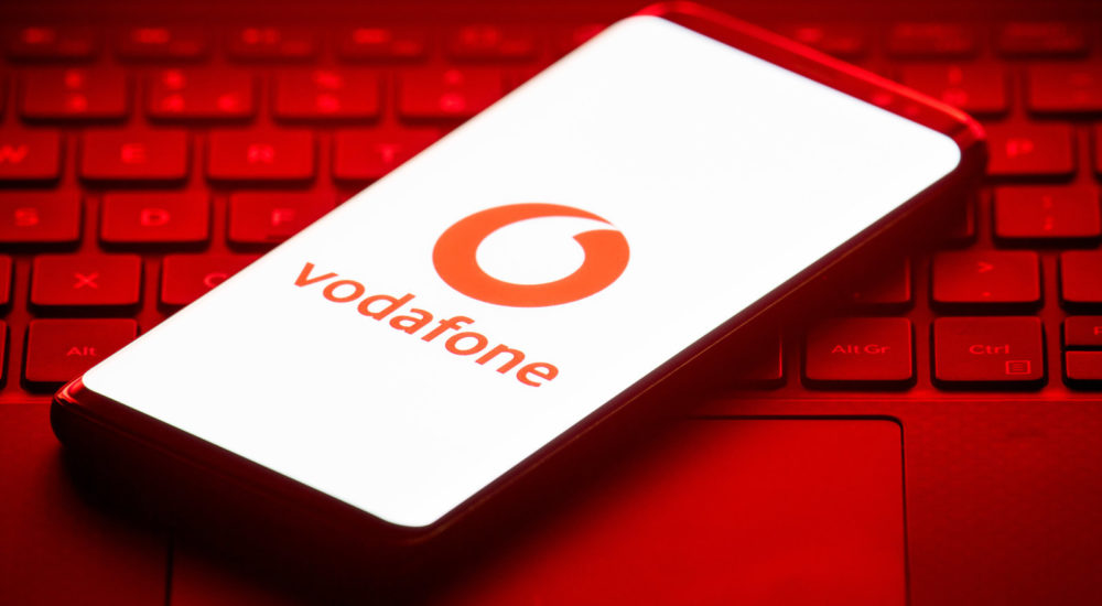 The logo of mobile phone network Vodafone is displayed on the screen of a smartphone. (Photo by Dominic Lipinski/PA Images via Getty Images)