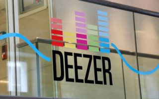 A logo is seen at the music streaming services Deezer's headquarters in Paris, France, September 5, 2017. Picture taken September 5, 2017. REUTERS/Charles Platiau