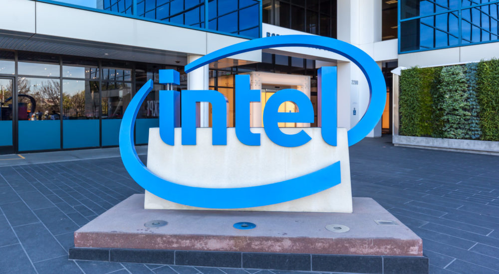 Santa Clara, California, USA - March 29, 2018: Entrance of The Intel Museum in Silicon Valley. Intel is an American multinational corporation and technology company.